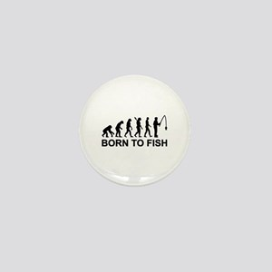 Fishing evolution born to fish Mini Button